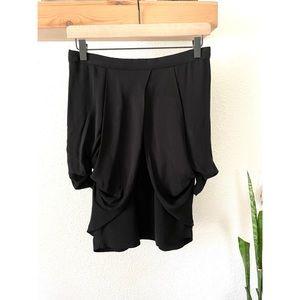 Miu Miu Runway puff hip black skirt